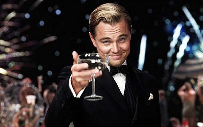 my're raising a glass to you, Leo.