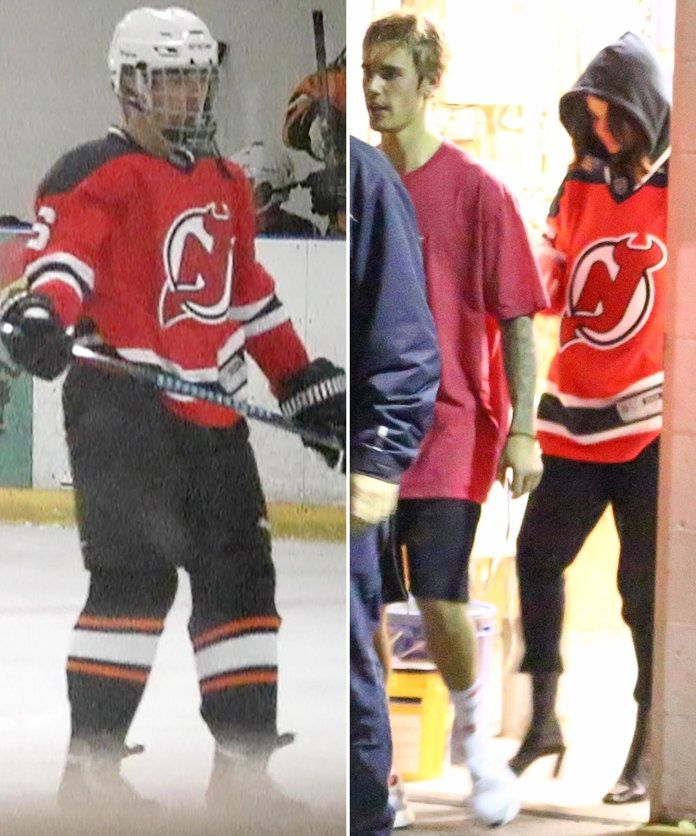 In the Same hockey jersey