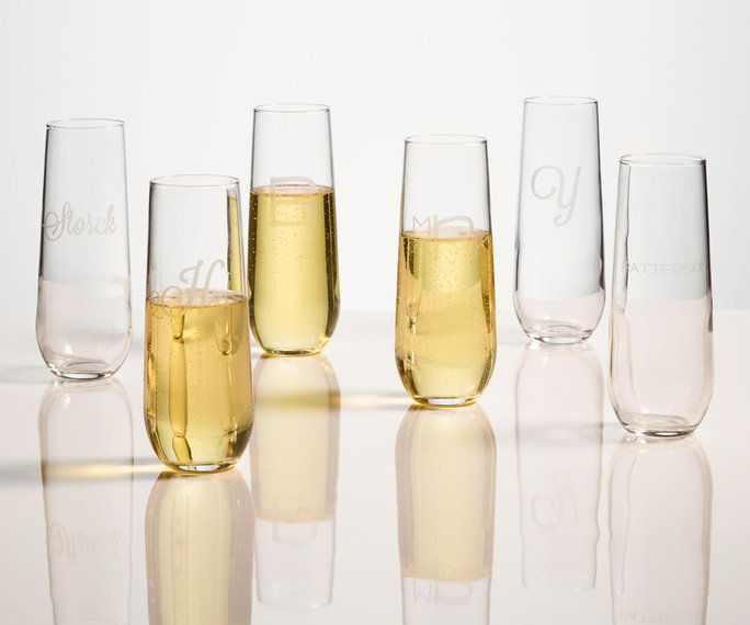 personalizované Stemless Champagne Flutes, set of 4