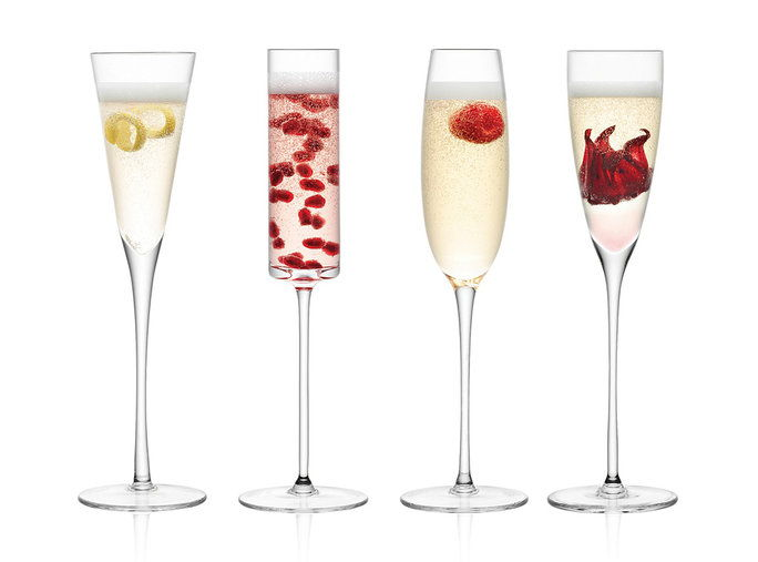 Lulu Assorted Champagne Flutes, set of 4