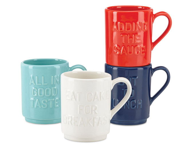 Kate Spade New York Mugs, Set of 4