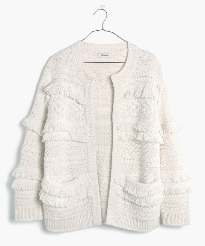 púštne Valley Fringe Cardigan Sweater