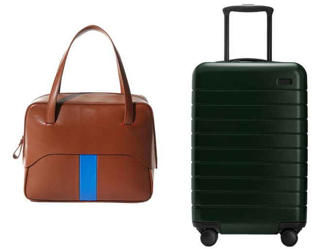 Leather Holdall + A Chargeable Suitcase