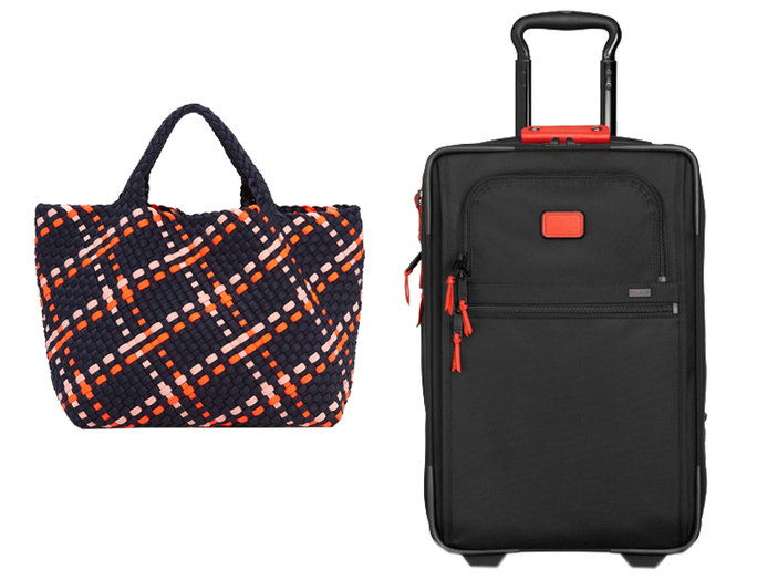 WOVEN TOTE + EXPANDABLE SUITCASE