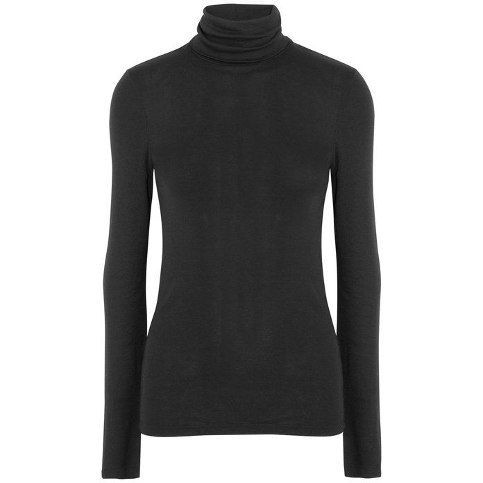 Supima cotton and modal-blend turtleneck sweater