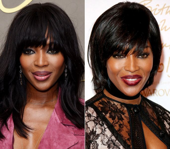 Naomi Campbell Hair Transformation