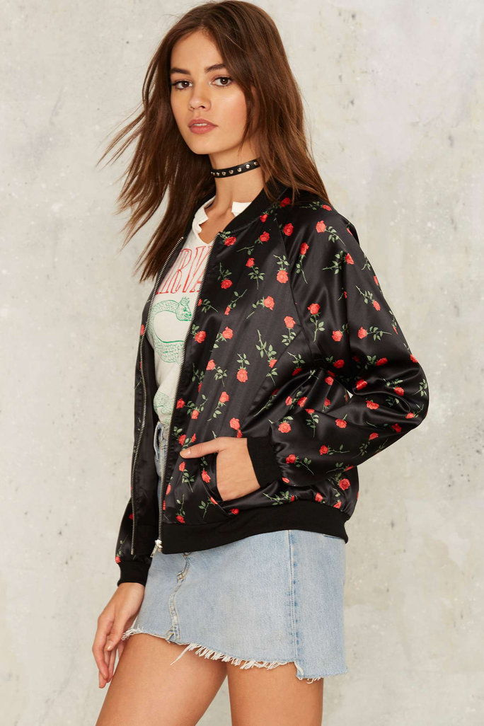Motel Bed of Roses Bomber Jacket