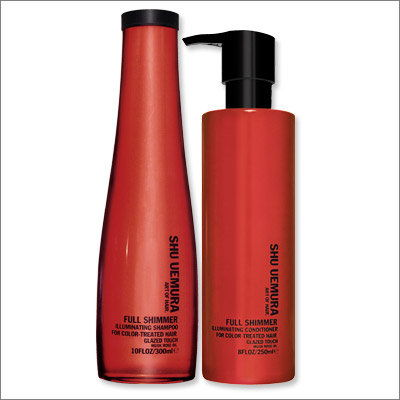 shu Uemura Full Shimmer Shampoo and Conditioner
