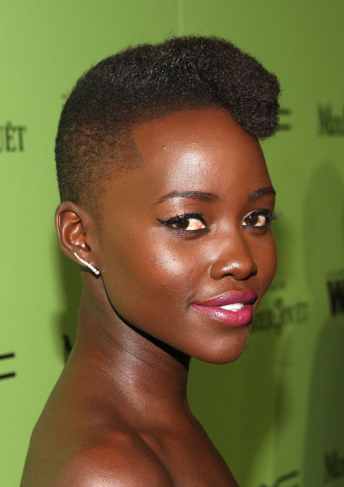 Attrice Lupita Nyong'o attends the Women In Film Pre-Oscar Cocktail Party presented by Perrier-Jouet, MAC Cosmetics & MaxMara at Fig & Olive Melrose Place on February 28, 2014 in West Hollywood, California.
