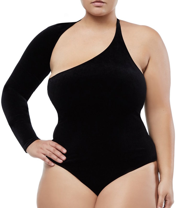 Baik Body Asymmetrical Bodysuit by Good American