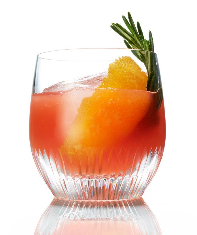 Darah Orange Old-Fashioned with Honey and Rosemary