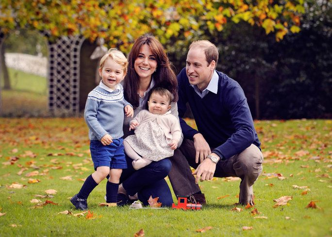 Duke and Duchess of Cambridge, Prince George, and Princess Charlotte, 2015