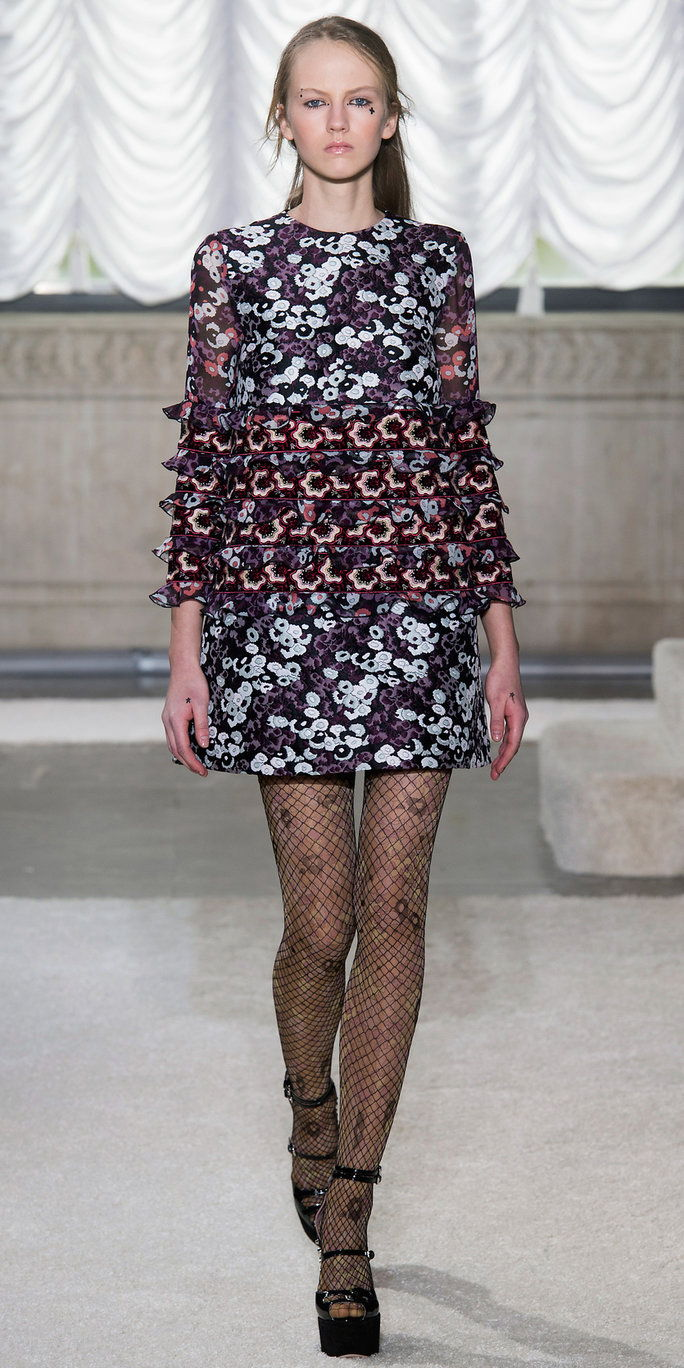 Paio a printed dress with printed tights