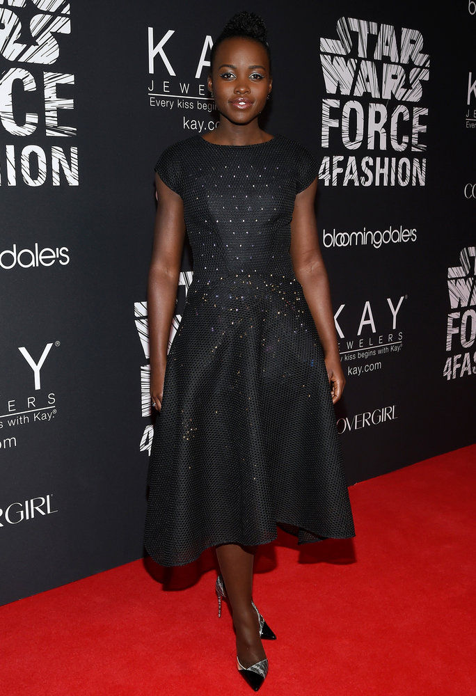 Lupita Nyong'o in Zac Posen x Google on Dec. 2, 2015