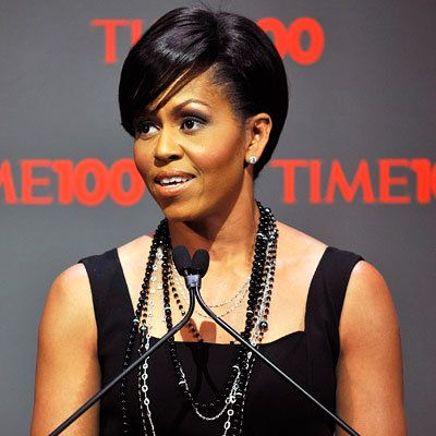 michelle Obama-Johnny Wright-Hair