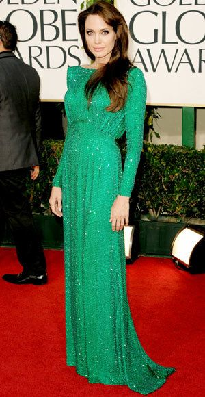 angelina Jolie - The Best Golden Globes Gowns of All Time - Atelier Versace