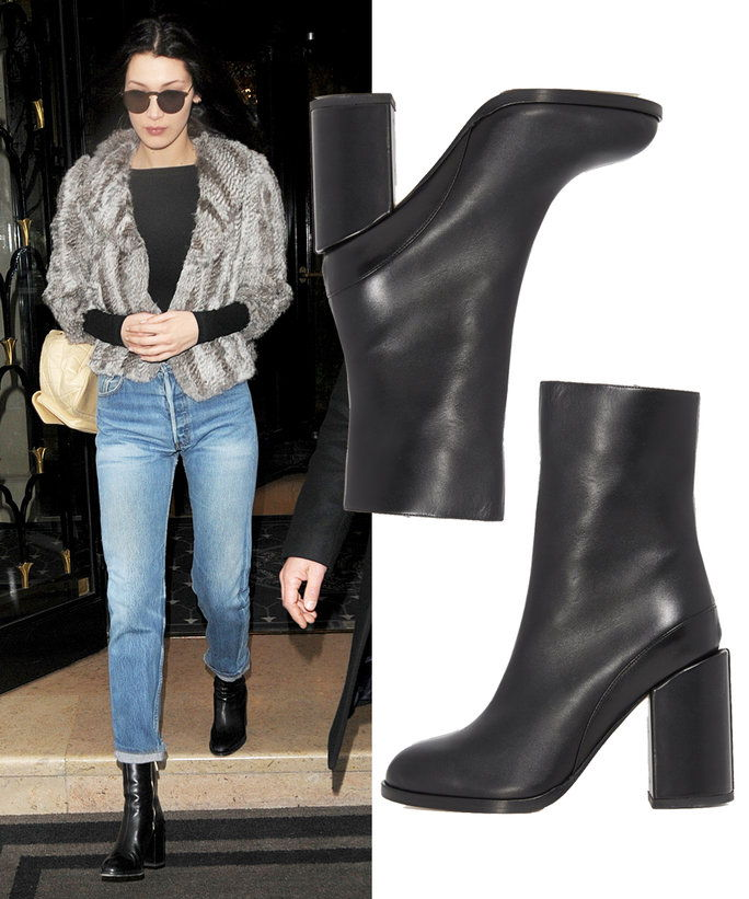 Bella Hadid in Dear Frances booties