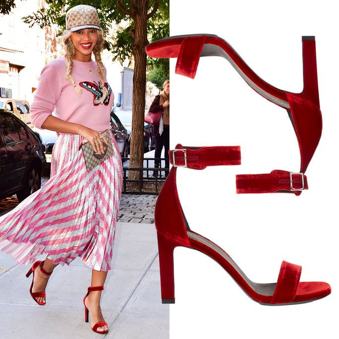 Beyoncé in Saint Laurent sandals