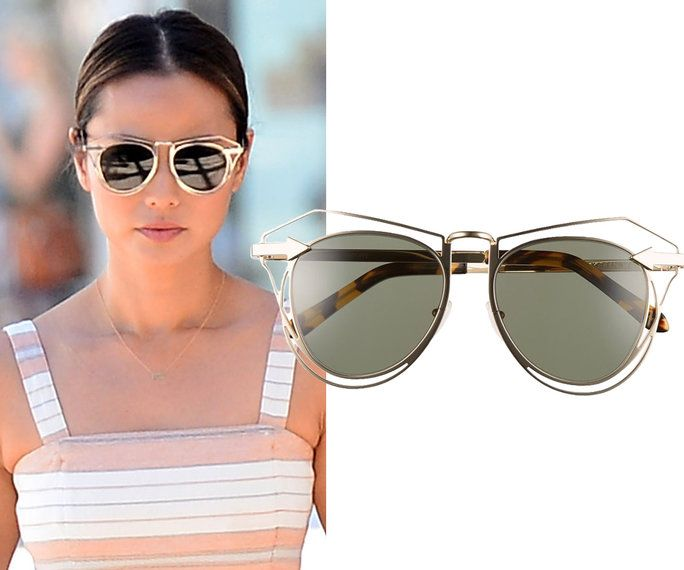 Jamie Chung in Karen Walker Eyewear sunglasses