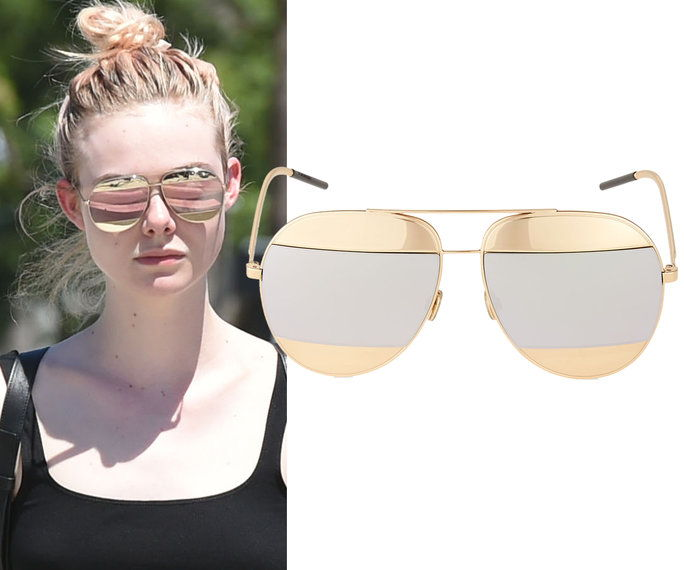 Elle Fanning in Dior sunglasses