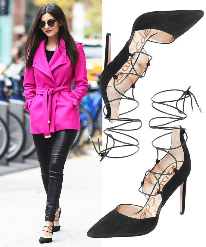 Victoria Justice in sam Edelman pumps