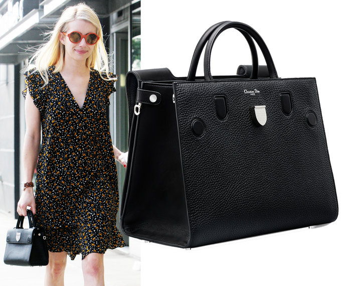 Emma Roberts carrying a Dior bag