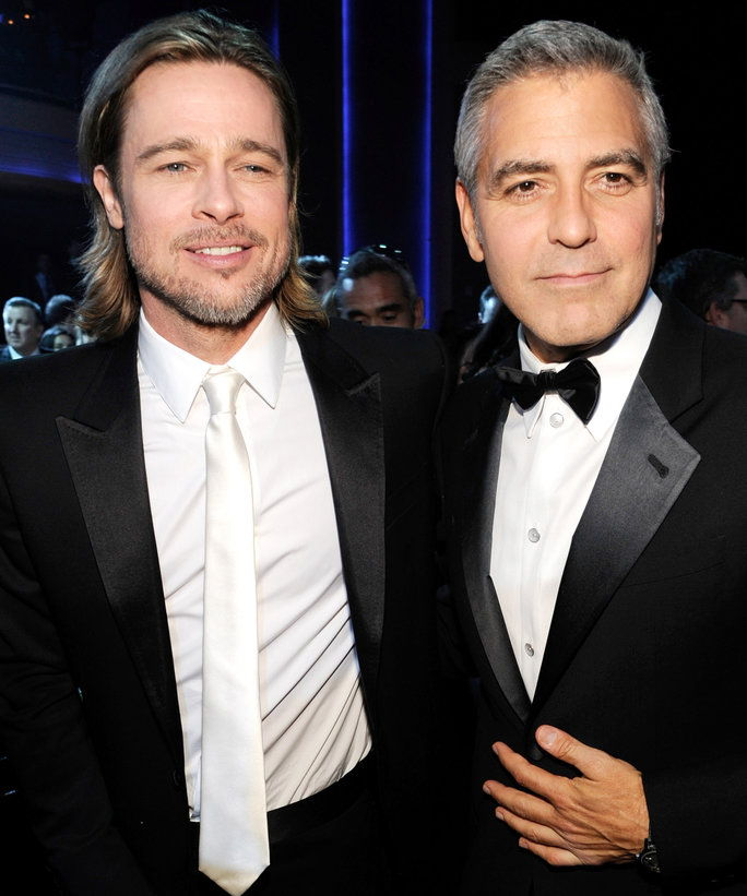 Chiodo senza testa Pitt and George Clooney