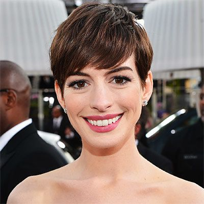 anne Hathaway - Transformation - Hair - Celebrity Before and After