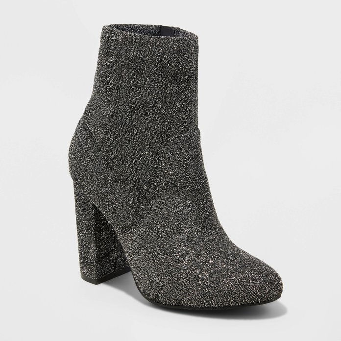 Mossimo Supply Co. Dania Glitter Sock Booties