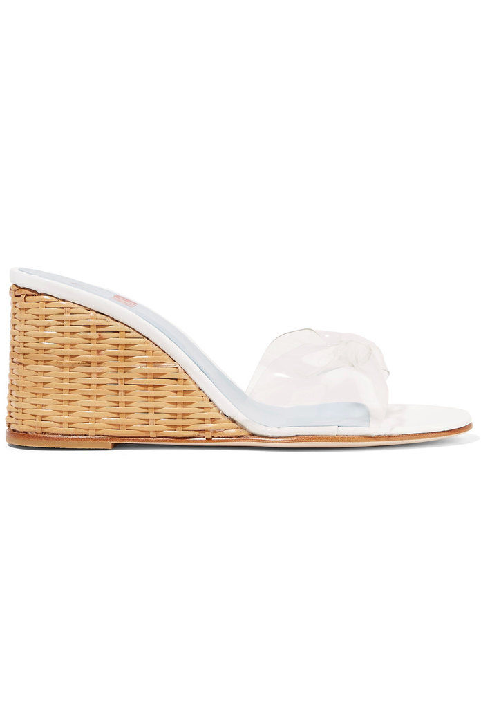 PÁN by Man Repeller Wicker Wedge PVC sandals