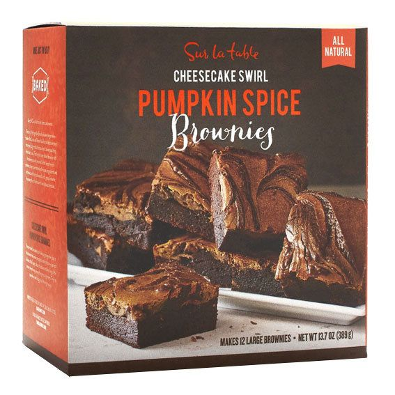 Sur La Table Cheesecake Swirl Pumpkin Spice Brownies