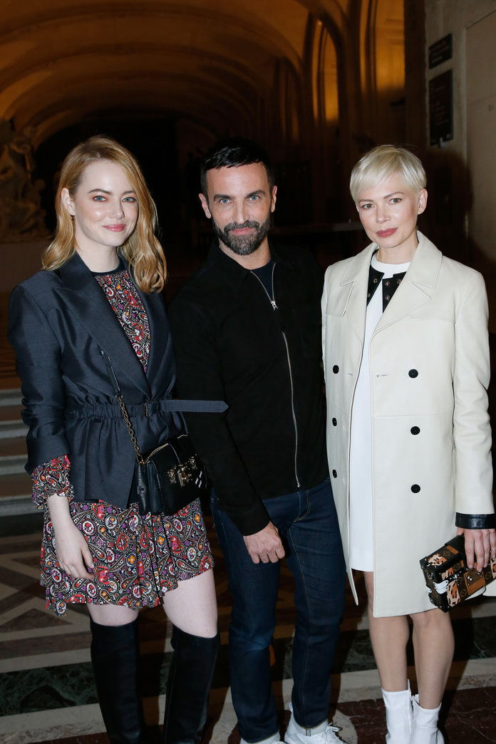 Emma Stone, Nicolas Ghesquière, Michelle Williams