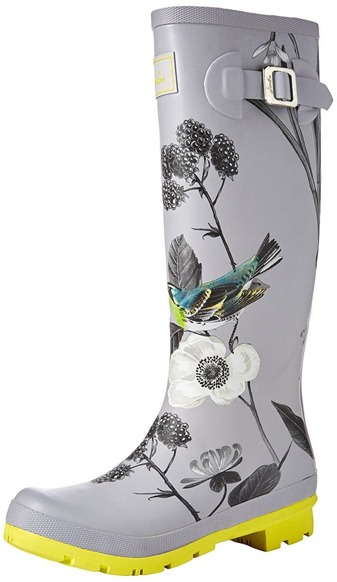 Joules Welly Print Rain Boot in Birdberry