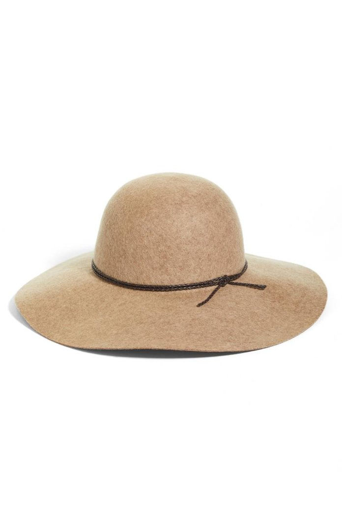 halogén Wool Floppy Hat
