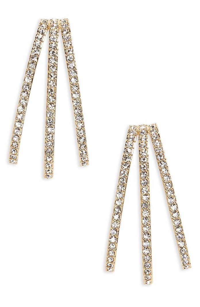Nadri Three-Row Crystal Ear Cuffs