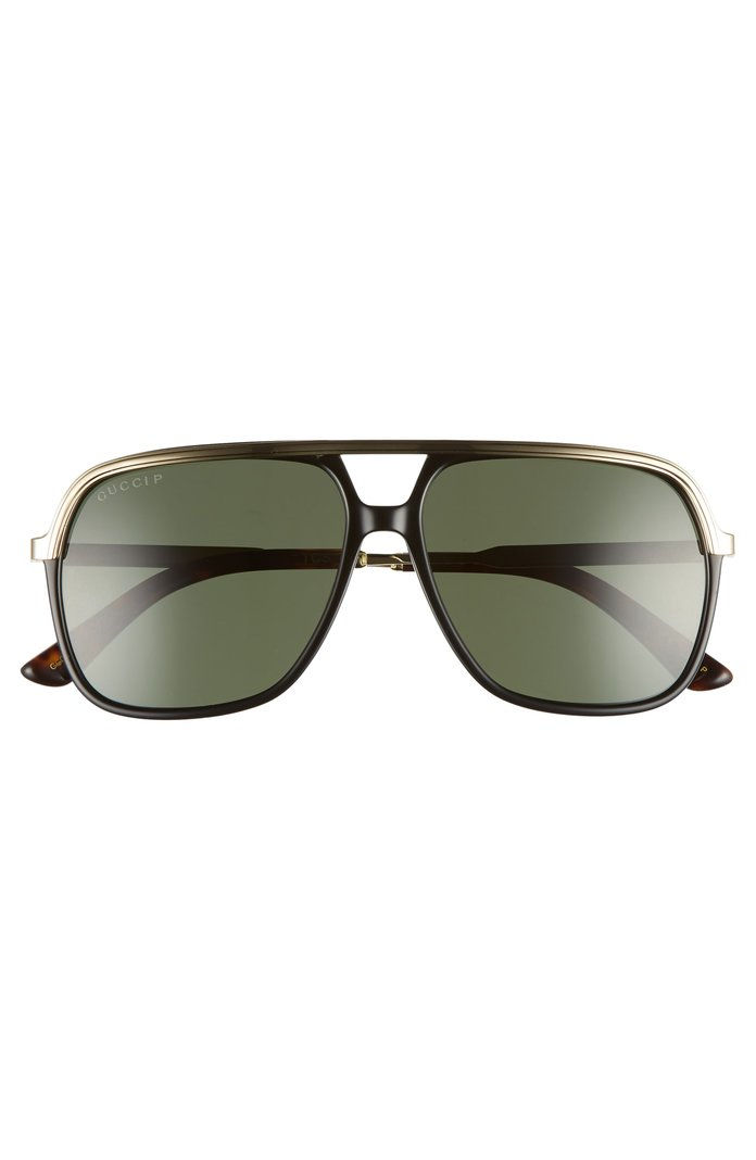 57mm Polarized Navigator Sunglasses