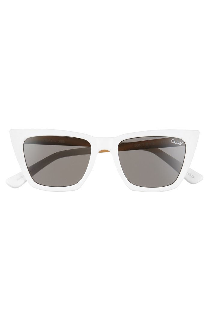 Putih Cat Eye Sunglasses