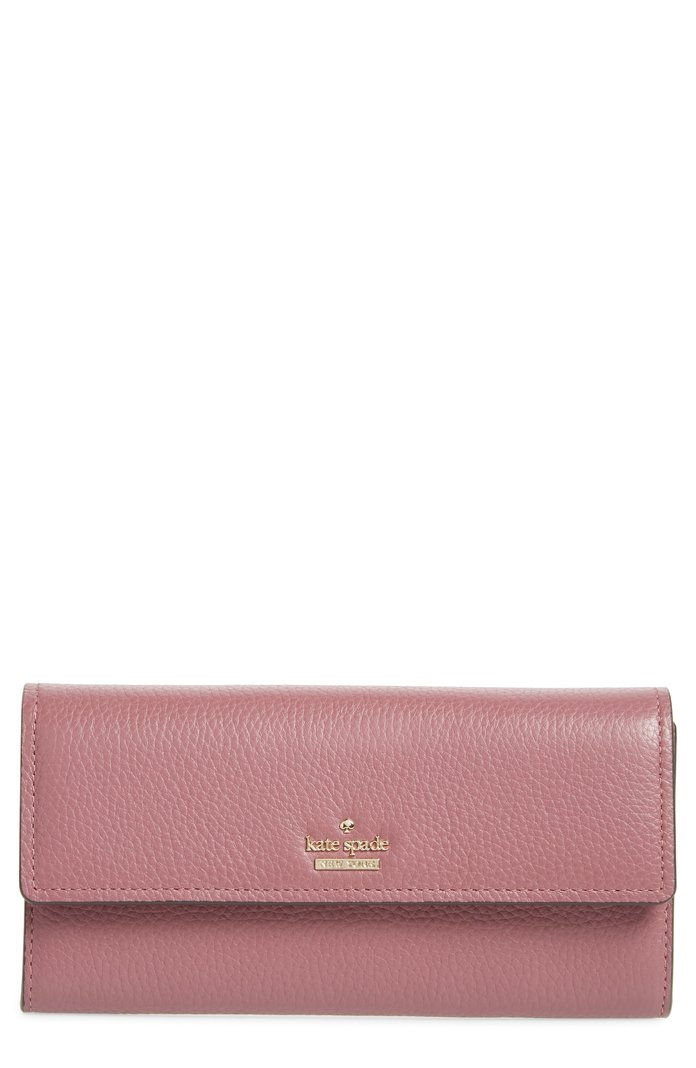 Dubové drevo Street Kinsley Pebbled Leather Wallet