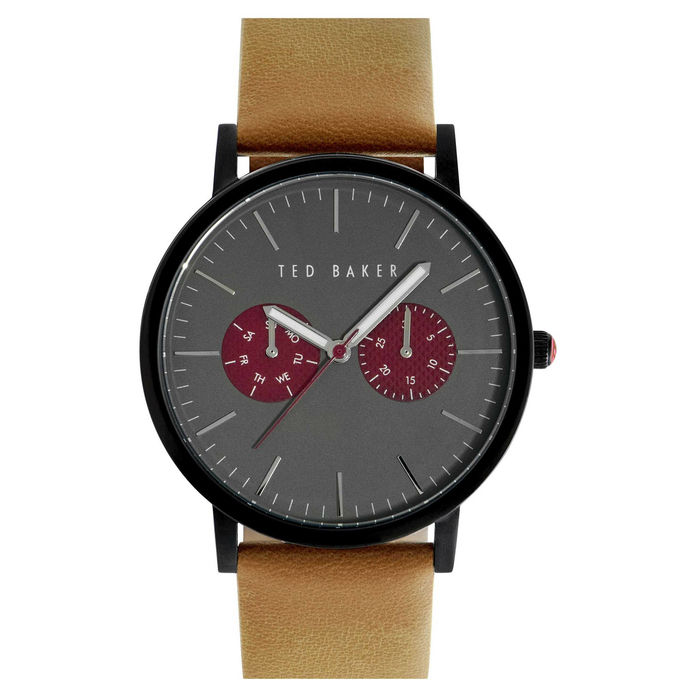 GREY AND BURGUNDY DIAL