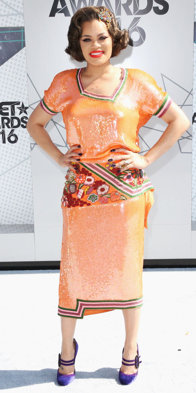 spevák Andra Day attends the 2016 BET Awards at the Microsoft Theater on June 26, 2016 in Los Angeles, California.