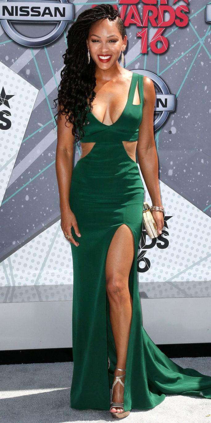 herečka Meagan Good attends the 2016 BET Awards at Microsoft Theater on June 26, 2016 in Los Angeles, California.