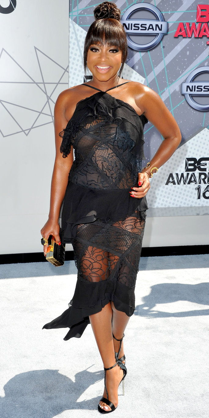 Actress Naturi Naughton attends the 2016 BET Awards at Microsoft Theater on June 26, 2016 in Los Angeles, California.