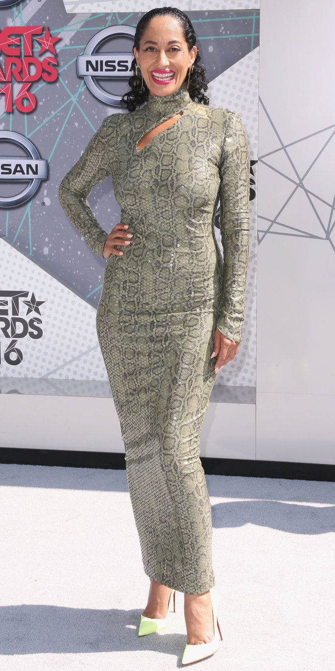 herečka Tracee Ellis Ross attends the 2016 BET Awards at the Microsoft Theater on June 26, 2016 in Los Angeles, California.