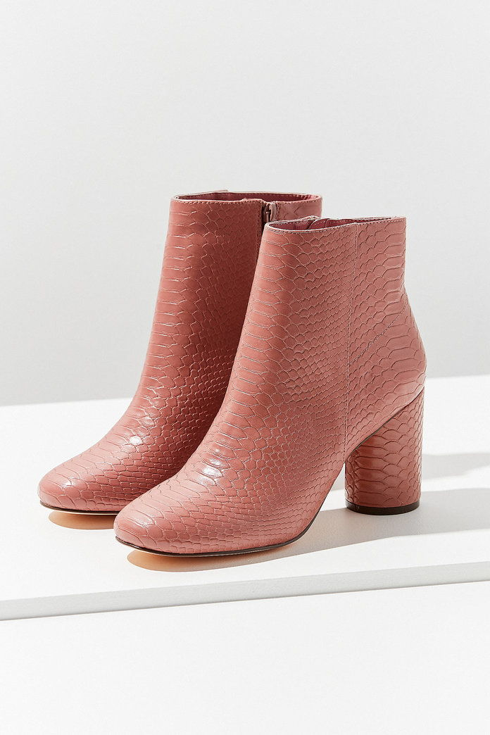 Faux Snakeskin Ankle Boot