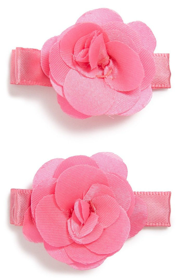 PLH BOWS & LACES Set of 2 Flower Hair Clips