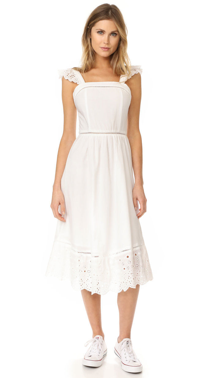 J.O.A. Embroidered Eyelet Dress