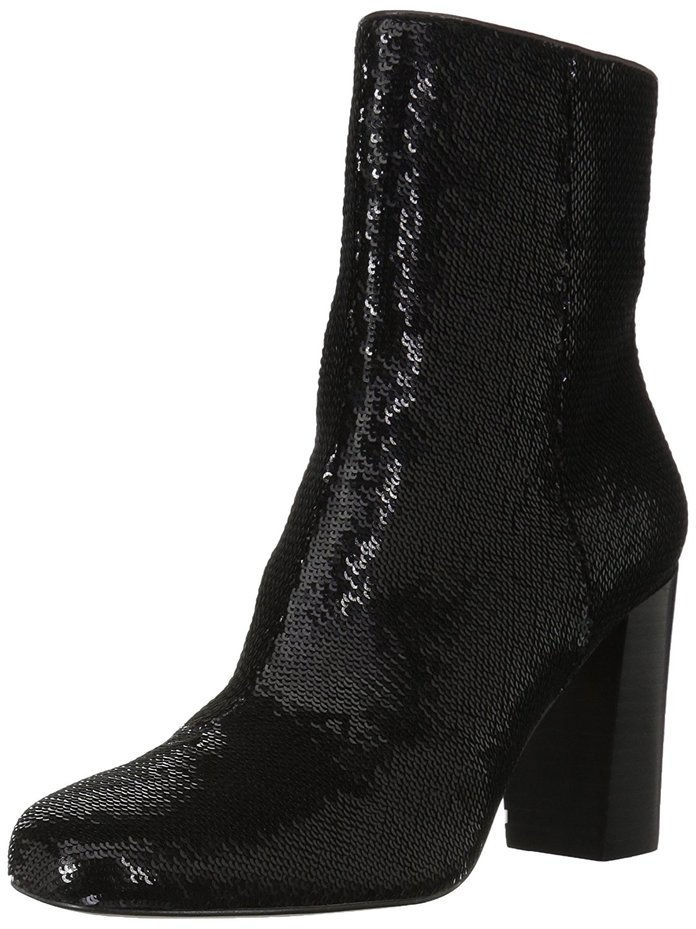 Fix Sutton Round-Toe Sequin Ankle Boot
