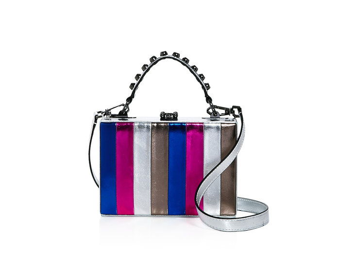 Cattiva Gal Girl Boxx Metallic Striped Crossbody