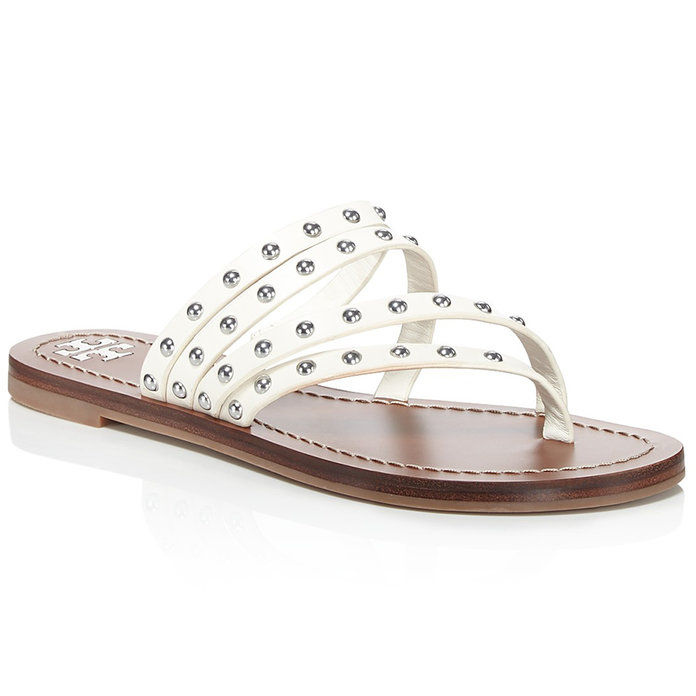 Patos Studded Leather Thong Sandals