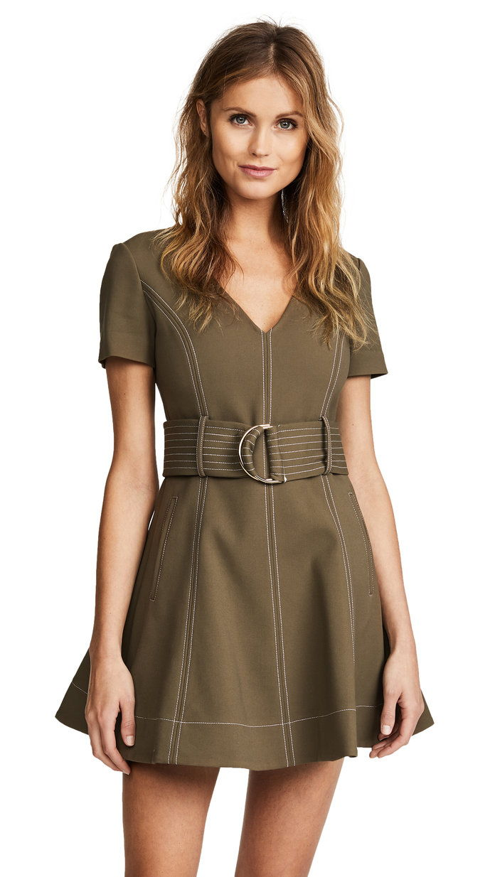 D Ring Fit & Flare Dress